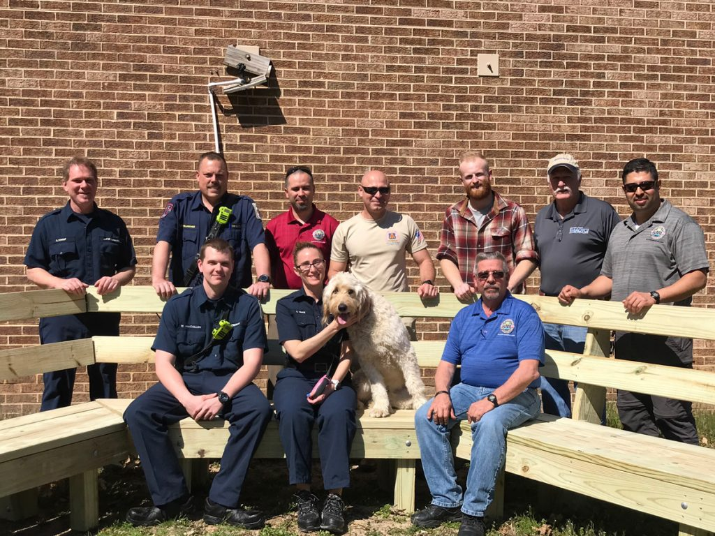 Mid-Atlantic Regional Council of Carpenters donated an extraordinary bench to FS 32